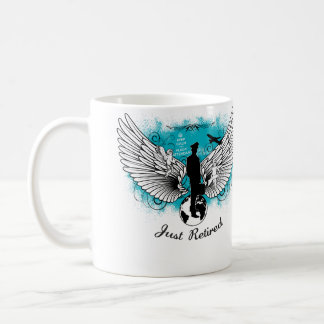 Kciafa Just retired men Coffee Mug