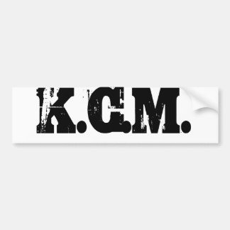 KCM BUMPER STICKER