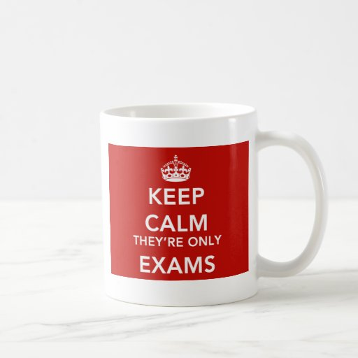 KCTHERE-ONLY-EXAMS-WHITE-RED-866x650 Taza Básica Blanca