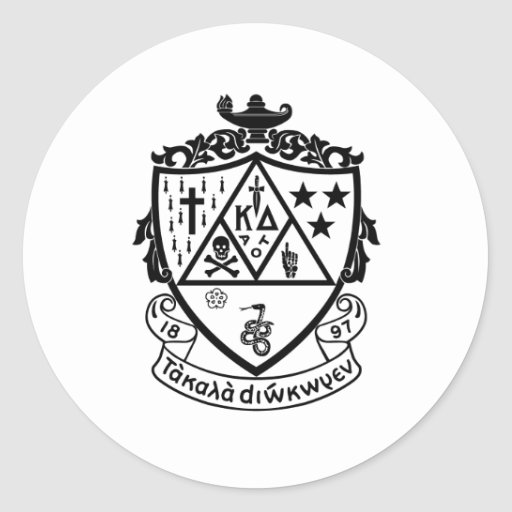 KD Crest Classic Round Sticker