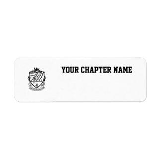 KD Crest Custom Return Address Labels