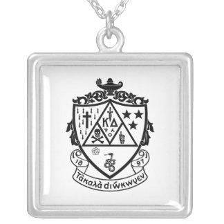 KD Crest Square Pendant Necklace