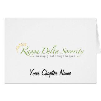 KD Sorority Logo Greeting Cards