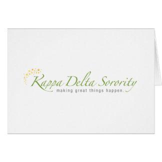 KD Sorority Logo Greeting Card