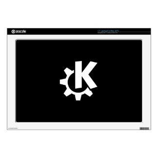 "KDE Desktop Environment Black and white Decals For 17"" Laptops"