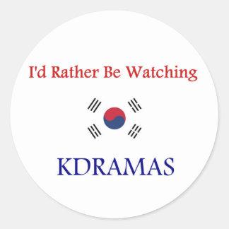 KDrama Classic Round Sticker