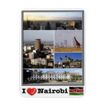 KE Kenia - Nairobi - I love Mosaic - Magnet