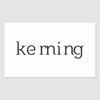 Ke rn i n g rectangular sticker