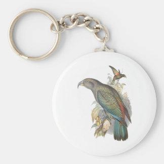 Kea (pequeño solamente) llavero redondo tipo pin