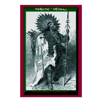 """Keah-ko ~ Ka'igwu"" (Kiowa Winter Count) Poster"