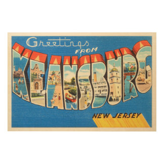 Keansburg New Jersey NJ Vintage Travel Postcard- Wood Wall Decor