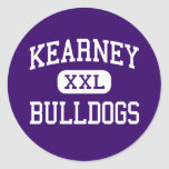 Kearney - dogos - joven - Kearney Missouri Pegatina Redonda