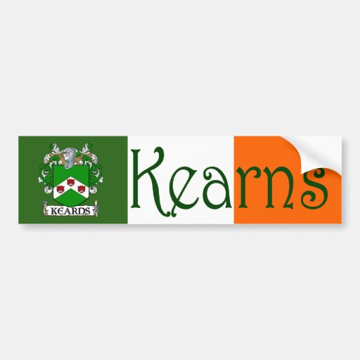 Kearns Coat of Arms Flag Bumper Sticker Car Bumper Sticker