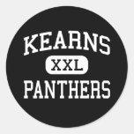Kearns - Panthers - Junior - Salt Lake City Utah Round Sticker