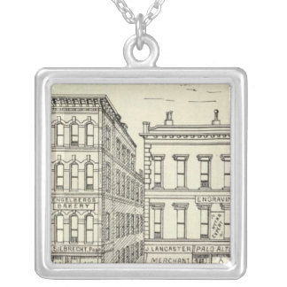 Kearny, Pine and California East Side Silver Plated Necklace