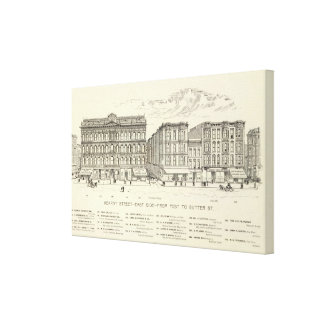 Kearny, Post and Sutter East Side Canvas Prints