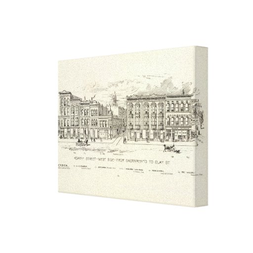 Kearny, Sacramento and Clay West Side Gallery Wrapped Canvas