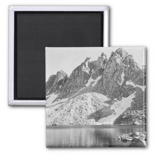 Kearsage Pinnacles Kings River by Ansel Adams Magnets