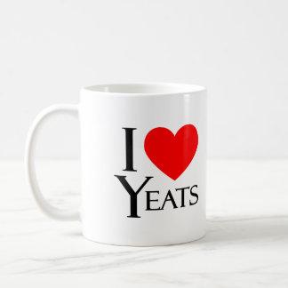 Keat and Yeats Classic White Coffee Mug