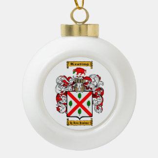 Keating Ceramic Ball Christmas Ornament