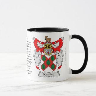 Keating Family Coat of Arms Mug