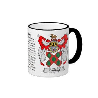 Keating Family Coat of Arms Ringer Coffee Mug