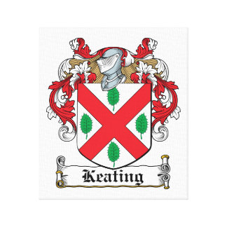Keating Family Crest Gallery Wrapped Canvas