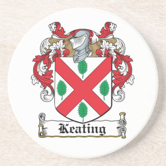 Keating Family Crest Beverage Coasters