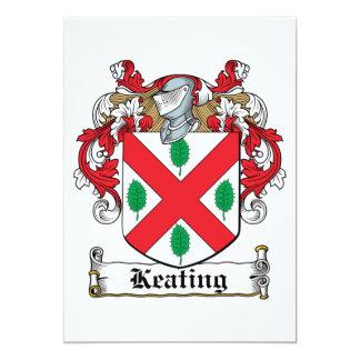 "Keating Family Crest 5"" X 7"" Invitation Card"