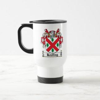 Keating Family Crest 15 Oz Stainless Steel Travel Mug