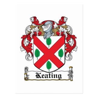 Keating Family Crest Postcard