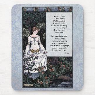 """Keats """"arte Mousepad de la dama"""" Victorian de la b Alfombrilla De Raton"""