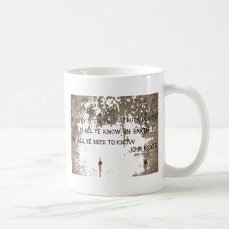 KEATS CLASSIC WHITE COFFEE MUG