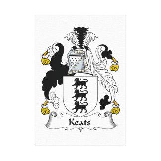 Keats Family Crest Gallery Wrap Canvas