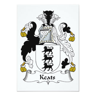 Keats Family Crest Card