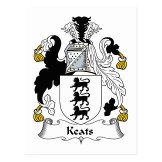 Keats Family Crest Postcard