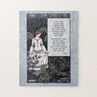 """Keats """"La Belle Dame"""" Victorian Art Puzzle"""