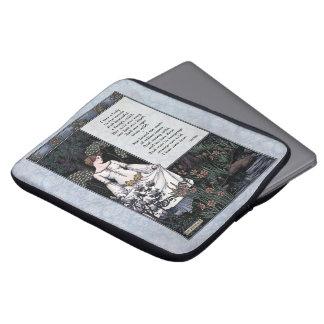 """Keats """"manga del ordenador portátil de la dama"""" Vi Fundas Computadoras"""