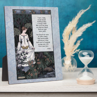 """Keats """"placa del arte de la dama"""" Victorian 8x10 d Placa De Madera"""