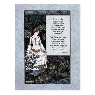 "Keats ""postal de la dama"" Victorian de la belleza  Tarjetas Postales"