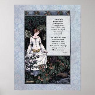 Keats poster del arte de la dama Victorian de la