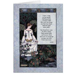 """Keats """"tarjeta del arte de la dama"""" Victorian de l"""