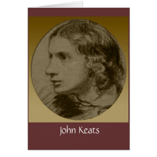 Keats, the Romantic Poet Card