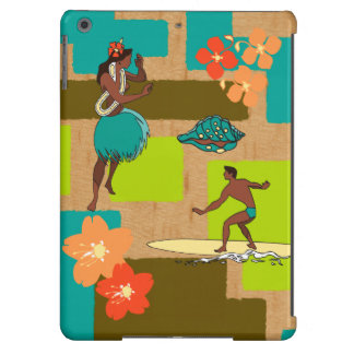 Keauhou Hawaiian Hula Girl & Surfer Aloha Shirt iPad Air Cover
