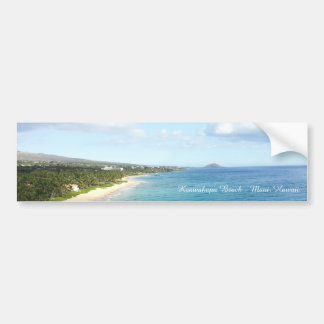 Keawakapu Beach - Maui, Hawaii | Bumper Sticker