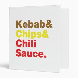 Kebab & Chips & Chili Sauce. Binder