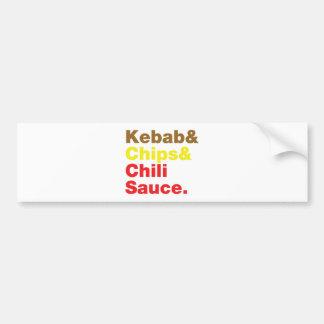 Kebab & Chips & Chili Sauce. Car Bumper Sticker