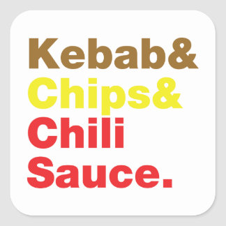 Kebab stickers zazzle for Classic kebab house fish chips aston