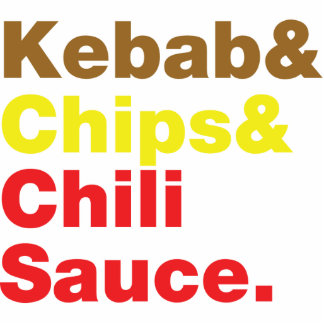 Kebab & Chips & Chili Sauce. Statuette