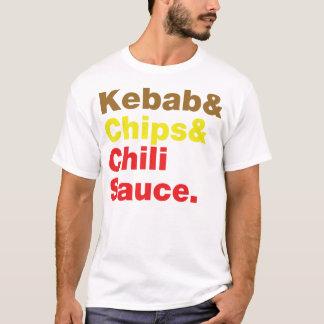 Kebab & Chips & Chili Sauce. T-Shirt